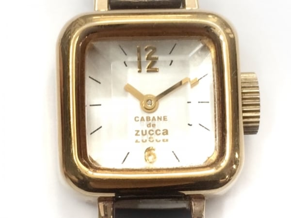 ZUCCA(ズッカ) 腕時計 CARAMEL Y150-0BN0 レディース CABANE de ZUCCA 白