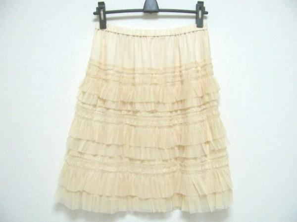 NOKO OHNO(ノコオーノ) スカート サイズ40 M レディース美品  ベージュ レース
