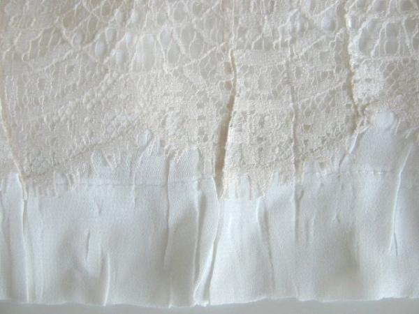 NOKO OHNO(ノコオーノ) パンツ サイズ40 M レディース美品  白 プリーツ/レース