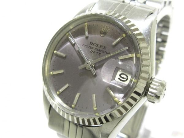 ロレックス 腕時計 オイスターパーペチュアルデイト 6517 レディース ダークグレー