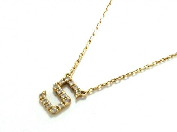AHKAH(アーカー) ネックレス K18YG×ダイヤモンド 0.06カラット