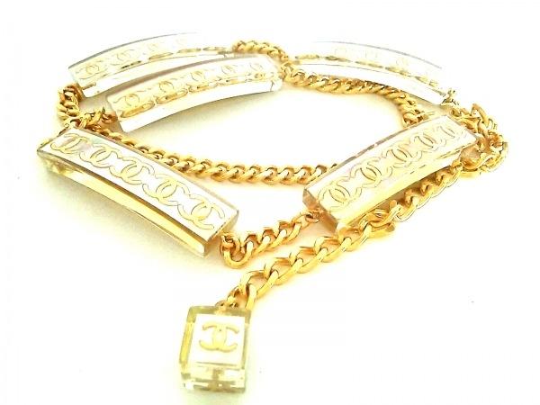 CHANEL(シャネル) ベルト アイボリー×ゴールド ココマーク プラスチック×金属素材