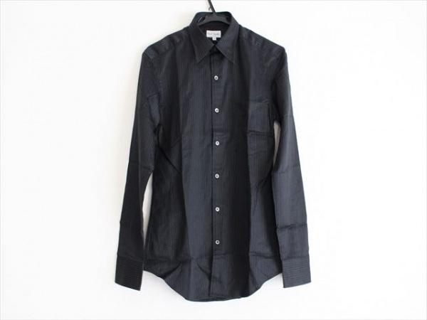 PaulSmith(ポールスミス) 長袖シャツ サイズM メンズ美品  黒×白 ストライプ
