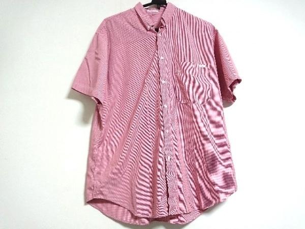 Papas(パパス) 半袖シャツ サイズM メンズ新品同様  レッド×白 チェック柄