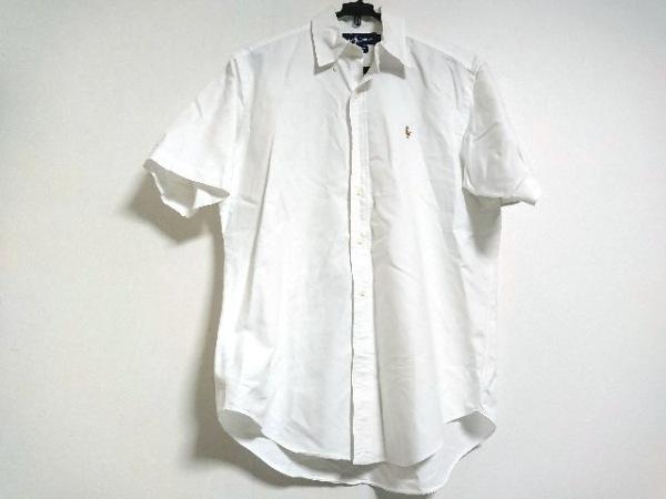 RalphLauren(ラルフローレン) 半袖シャツ サイズ39 メンズ美品  白 刺繍