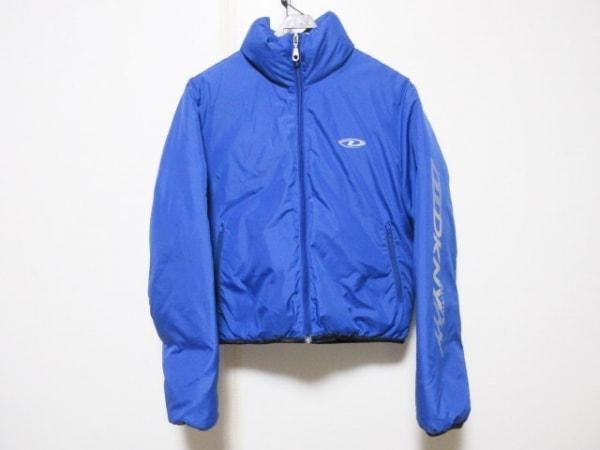 DKNY(ダナキャラン) ダウンジャケット サイズS レディース ブルー ジップアップ/冬物