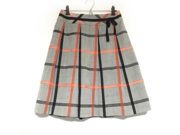 オースチンリード スカート サイズ38 L レディース美品  グレー×オレンジ×黒