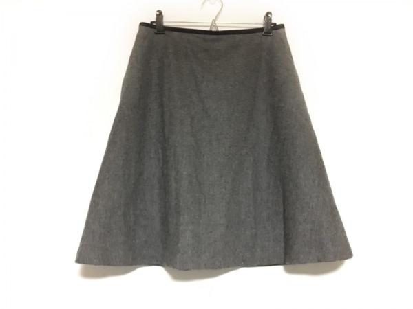 マッキントッシュフィロソフィー スカート サイズ38 L レディース美品  グレー×黒