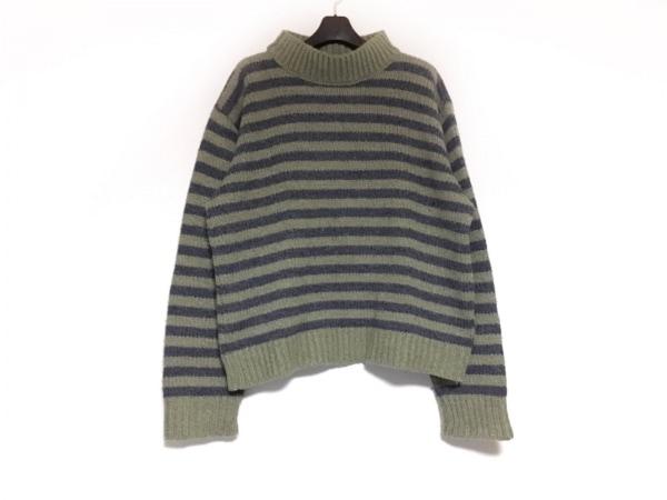 agnes b(アニエスベー) 長袖セーター サイズ1 S メンズ ダークグリーン×ネイビー
