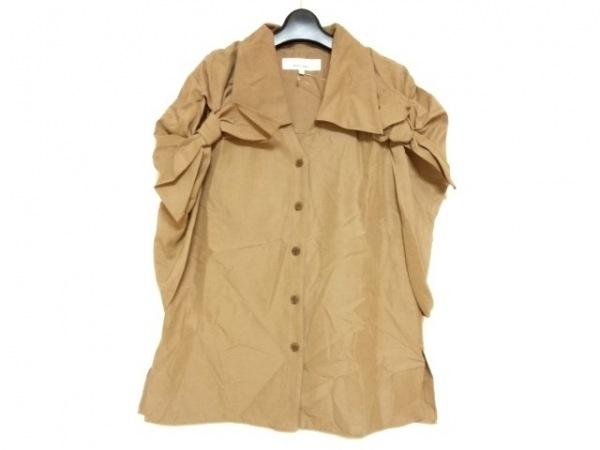 アキラナカ ノースリーブシャツブラウス サイズ1 S レディース美品  ライトブラウン