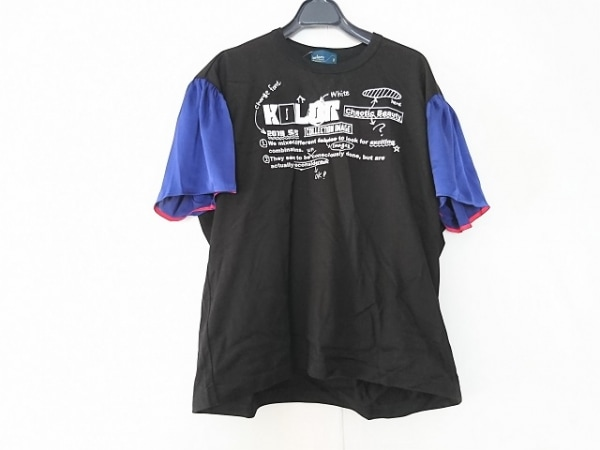 kolor(カラー) 半袖Tシャツ サイズ2 M レディース 黒×白×ブルー
