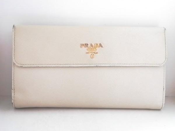 PRADA(プラダ) 長財布 - 1M1133 ベージュ レザー