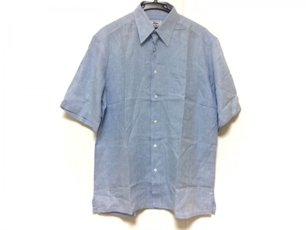 Brioni(ブリオーニ) 半袖シャツ サイズM メンズ美品  ライトブルー