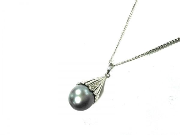 MAJORICA(マジョリカ) ネックレス美品  金属素材×フェイクパール シルバー perlas