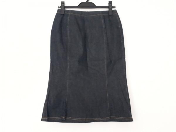 ケイタマルヤマ スカート サイズ0 XS レディース美品  ダークネイビー デニム