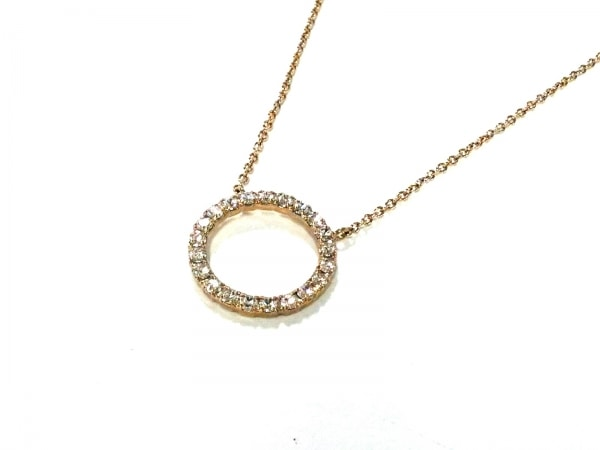 AGATHA(アガタ) ネックレス美品  金属素材×ラインストーン ゴールド