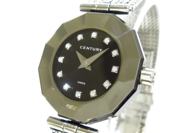 CENTURY(センチュリー) 腕時計美品  タイムジェム - レディース 12Pダイヤ 黒