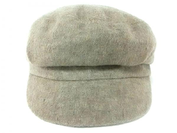 Le Vernis(ルヴェルニ) 帽子美品  ダークブラウン ウール×ナイロン×化学繊維