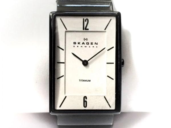 SKAGEN(スカーゲン) 腕時計 434LTLW ボーイズ 革ベルト 白
