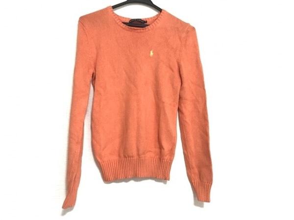RalphLauren(ラルフローレン) 長袖セーター サイズM レディース美品  オレンジ