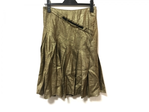 ヴィクター&ロルフ スカート サイズ38 M レディース美品  ゴールド プリーツ