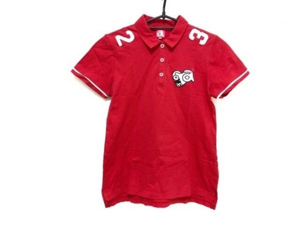 archivio(アルチビオ) 半袖ポロシャツ サイズ38 M レディース美品  レッド×白