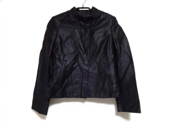アドーア ライダースジャケット サイズ38 M レディース 黒 ラムレザー/春・秋物
