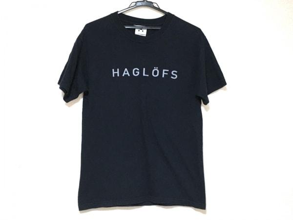 HAGLOFS(ホグロフス) 半袖Tシャツ レディース美品  ネイビー×ライトブルー