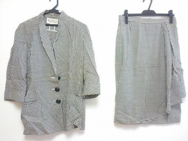 LANCETTI(ランチェッティ) スカートスーツ サイズ42 L レディース 黒×白