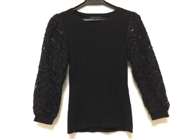 JUSGLITTY(ジャスグリッティー) 七分袖セーター サイズ2 M レディース 黒 レース