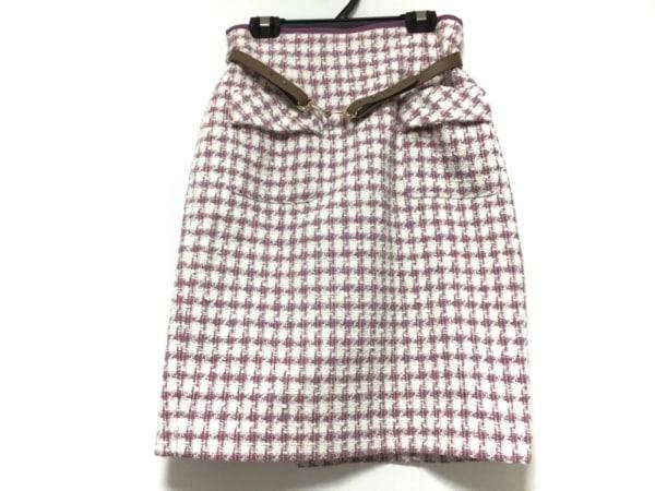 Apuweiser-riche(アプワイザーリッシェ) スカート サイズ1 S レディース 白×パープル