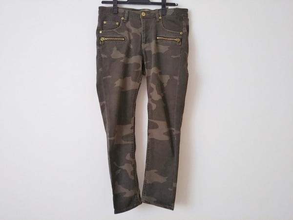 アパルトモン パンツ サイズ40 M レディース美品  ダークブラウン×ベージュ 迷彩柄