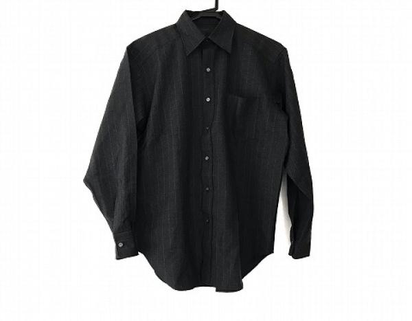 エーエーアールヨウジヤマモト 長袖シャツ サイズM メンズ美品  ダークグレー×グレー