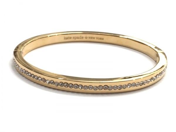 ケイトスペード バングル美品  O0RU2240 金属素材×ラインストーン ゴールド×クリア