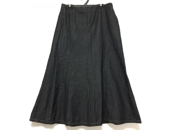 バーバリーロンドン ロングスカート サイズ13 L レディース 黒 デニム
