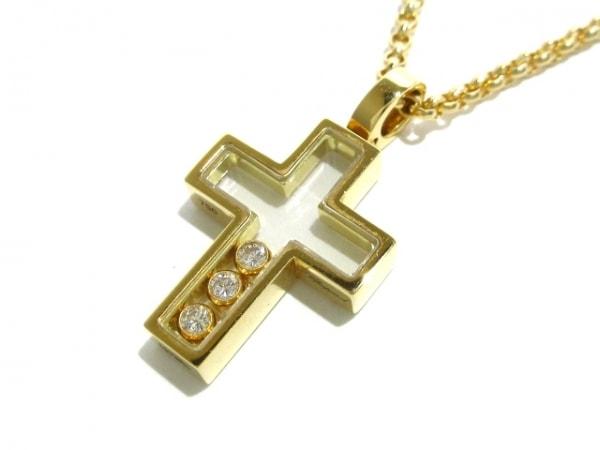 ショパール ネックレス美品  ハッピーダイヤクロス 79/4009 K18YG×ダイヤモンド