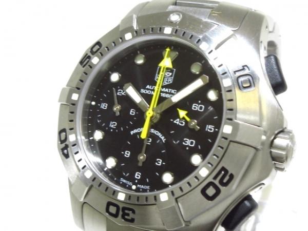 TAG Heuer(タグホイヤー) 腕時計美品  アクアグラフ CN211A メンズ クロノグラフ 黒