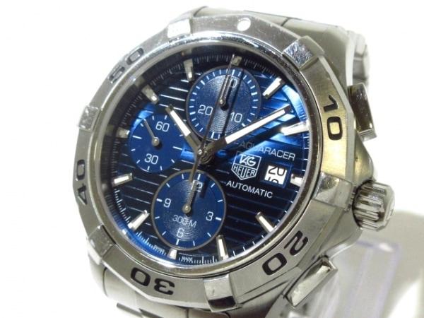 タグホイヤー 腕時計 アクアレーサー クロノ CAP2112 メンズ クロノグラフ ブルー