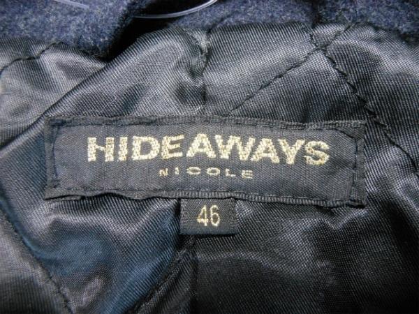 ハイダウェイニコル コート サイズ46 XL メンズ美品  ネイビー 冬物