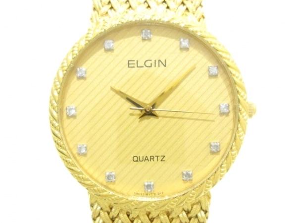 ELGIN(エルジン) 腕時計 FK278 レディース 12Pダイヤ ゴールド