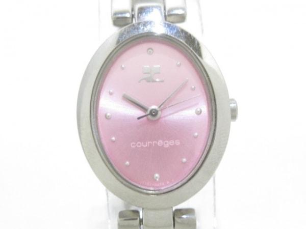 COURREGES(クレージュ) 腕時計美品  Y151-0AJ0 レディース ピンク