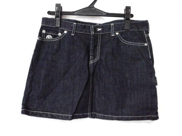 ア ベイシング エイプ ミニスカート サイズXS レディース美品  - - ネイビー デニム