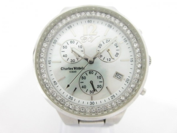 CharlesVogele(シャルルホーゲル) 腕時計 CV-7930 レディース ホワイトシェル