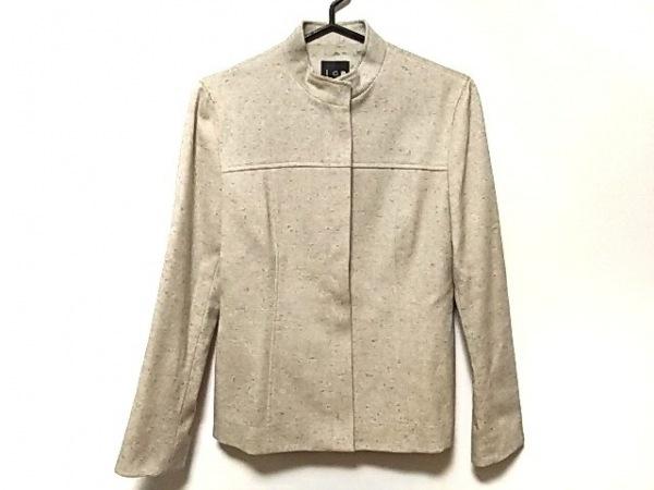 ICB(アイシービー) ジャケット サイズ9 M レディース美品  ベージュ ハイネック
