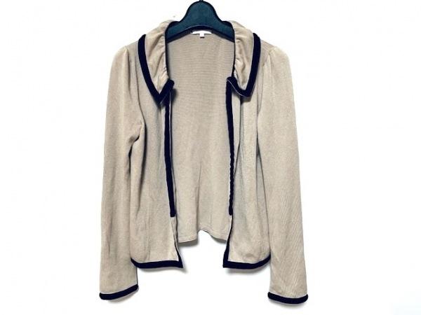 トゥービーシック ジャケット サイズ2 M レディース美品  ベージュ×黒 ニット