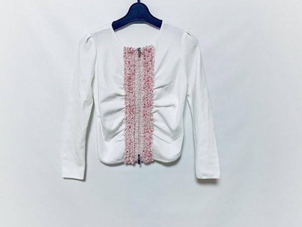 フランコフェラーロ ジャケット サイズ2 M レディース美品  白×ピンク×ベージュ