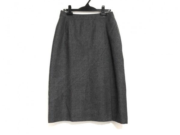 HERNO(ヘルノ) ロングスカート サイズ48 XL レディース美品  グレー