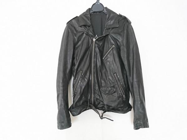 シップスジェットブルー ライダースジャケット メンズ 黒 レザー/春・秋物