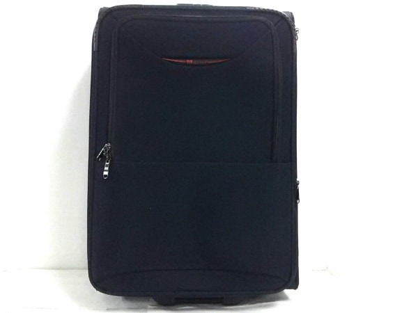 シースター キャリーバッグ 黒×レッド ロックナンバー【000】 ナイロン×化学繊維