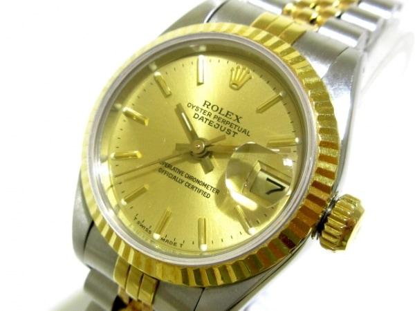 ロレックス 腕時計 デイトジャスト 69173 レディース K18YG×SS/19コマ ゴールド